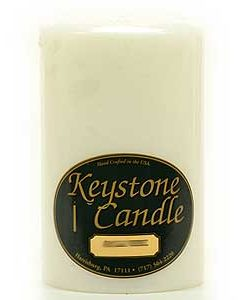 White 4 x 6 Pillar Candles - Unscented