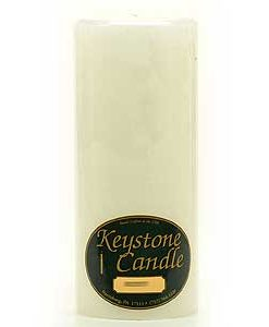 White 4 x 9 Pillar Candles - Unscented
