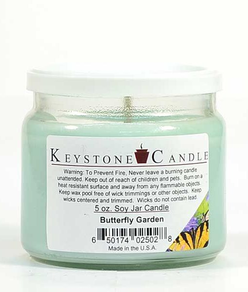 5 oz Butterfly Garden Soy Jar Candles