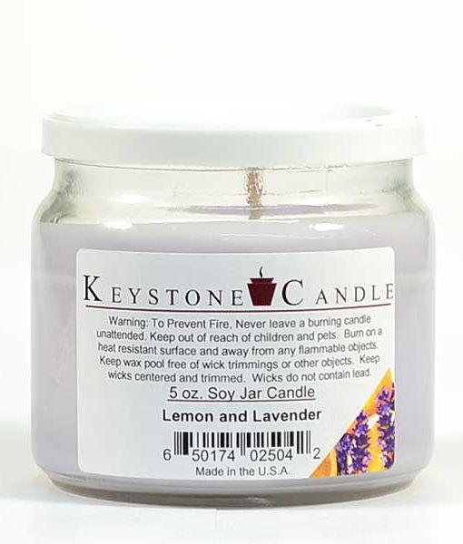 5 oz Lemon and Lavender Soy Jar Candles