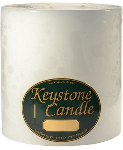 White 6 x 6 Pillar Candles - Unscented
