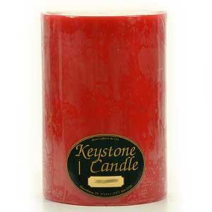 Mistletoe and Holly 6 x 9 Pillar Candles