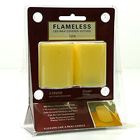 LED Votive Candles 2 Pack Ivory