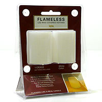 LED Votive Candles 2 Pack White