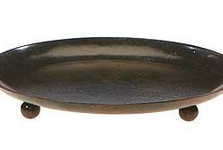 Ball Footed Metal Candle Plate 5 Inch