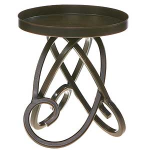 Metal Candle Holders Looped Legs 4.75 Inch