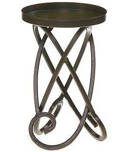 Metal Candle Holders Looped Legs 7 Inch