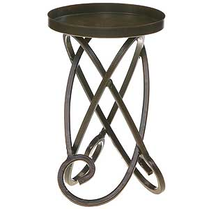 Metal Candle Holders Looped Legs 7 Inch