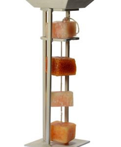 Candle on Rope Straight Holder White