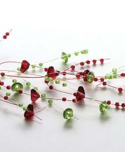 Beaded Garland Green and Claret