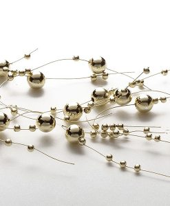 Beaded Garland Pearl Metallic Gold