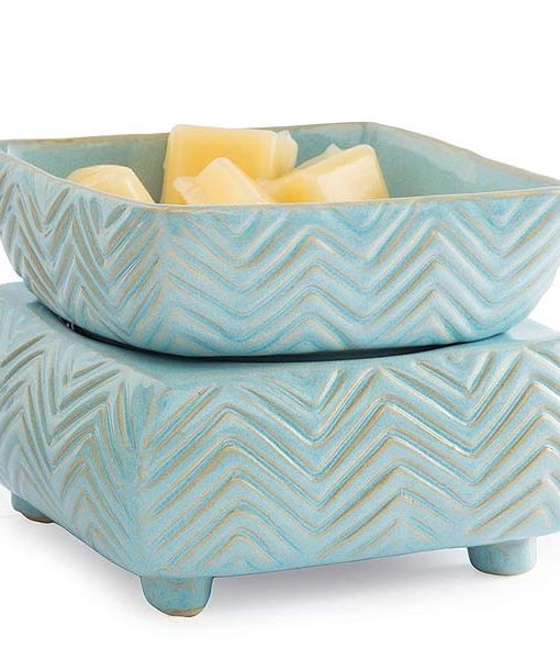 Candle Warmer and Dish Chevron
