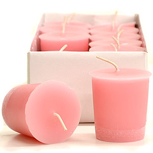 Baby Powder Pink Scented Votives