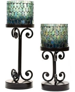 Ambia Candle Holders Set of 2