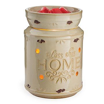 Cream Bless This Home Tart Warmer
