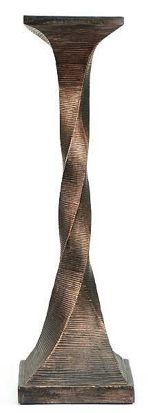 Bronze Twisted Medium Candle Holder