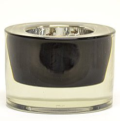 Round Tea Light Holder 3 Inch Black