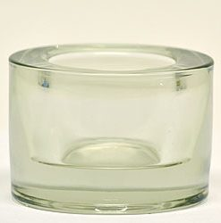 Round Tea Light Holder 3 Inch Clear