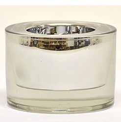 Round Tea Light Holder 3 Inch Silver