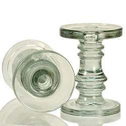 Heavy Glass Taper and Pillar Holder Large
