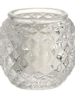 Chunky Glass Votive Cup Orb