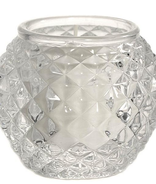 Chunky Glass Votive Cup Orb