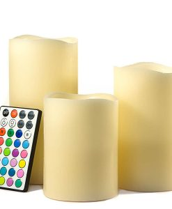 LED Color Changing Pillar Candle Set