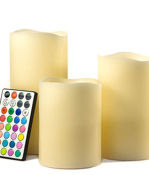 LED Color Changing Pillar Candle Set