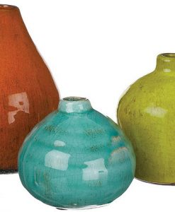 3 Piece Vase Set Assorted Colors