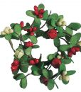 Berry and Bells Candle Rings 1.5 Inch