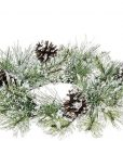 Snow Pine Candle Rings 4.5 Inch