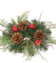 Pine and Pomegranate Candle Rings 2 Inch