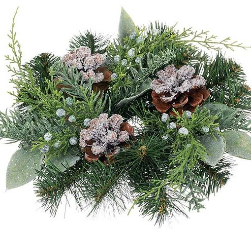 Pine Noble Fir Candle Rings 2 Inch