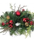 Pine and Mixed Ornaments Candle Rings 2 Inch