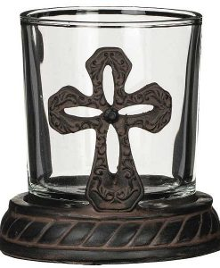 Cross Votive Holder 2 pc. Set