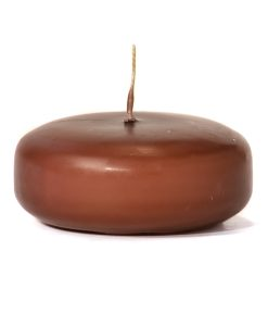 Brown Floating Candles Large Disk