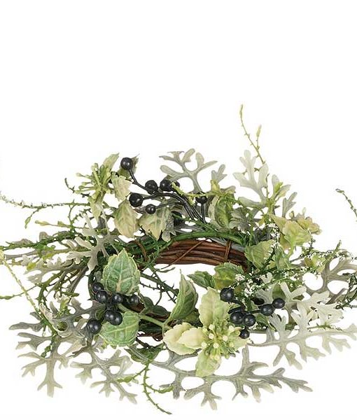 Dusty Miller 2 Inch Candle Ring