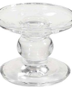 Dual Purpose 3 Inch Glass Candle Holder