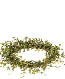 English Boxwood 6.5 Inch Candle Ring