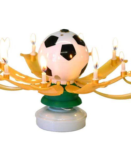 Musical Birthday Candles Soccer Ball