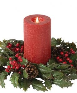 Classic Hollyberry Candle Rings 4.5 Inch