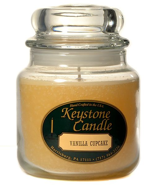 16 oz Vanilla Cupcake Jar Candles