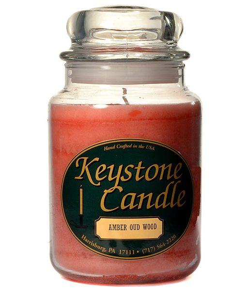 26 oz Amber Oud Wood Jar Candles