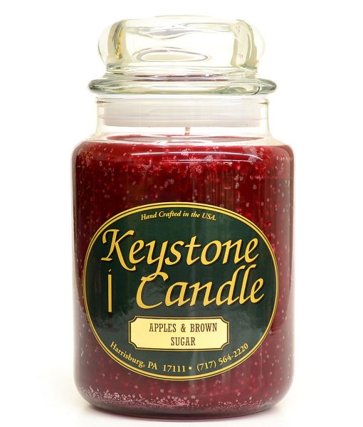 26 oz Apples and Brown Sugar Jar Candles