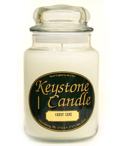 26 oz Candy Cane Jar Candles