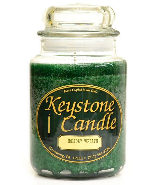 26 oz Holiday Wreath Jar Candles