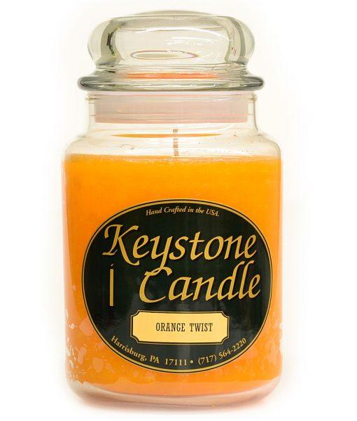 26 oz Orange Twist Jar Candles