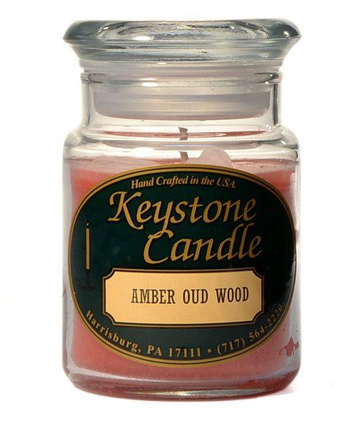 5 oz Amber Oud Wood Jar Candles