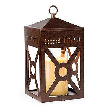 Lantern Candle Warmer Mission Rustic Brown