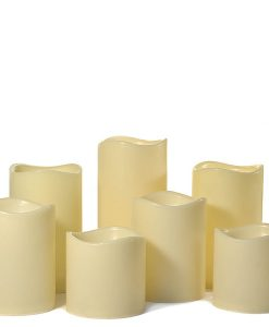 LED 7 Piece Pillar Candle Set